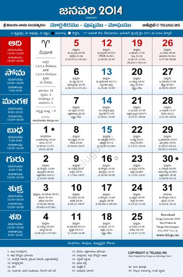 Telugu Gantala Panchangam 2014-15 Pdf